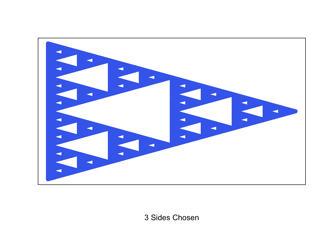 recursive shape fractal generator